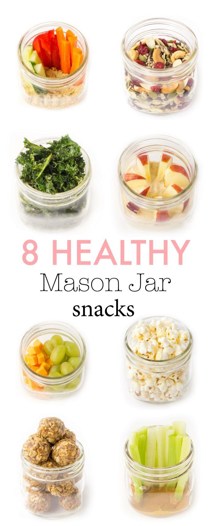 8 Healthy Make-Ahead Snack Ideas #healthyliving
