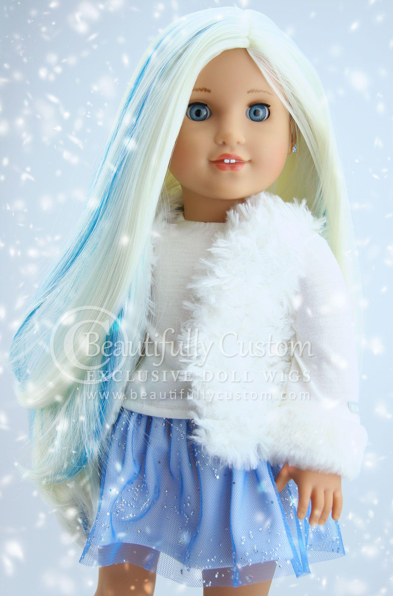 Frost Unicorn Deluxe Elegance Doll Wig for Custom American Girl