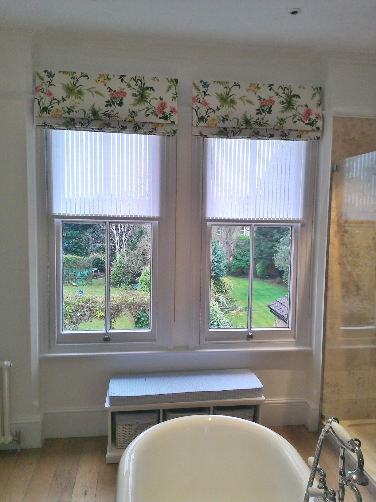 Romans and rollers blinds. Bathroom curtains or blinds   ideas   Pinterest   Bathroom blinds