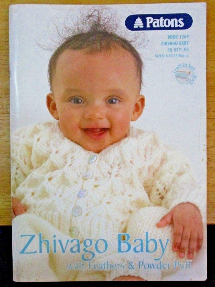 Patons Knitting Pattern no. 1269 ZHIVAGO BABIES SIZES 0-18 MONTHS 35 ...