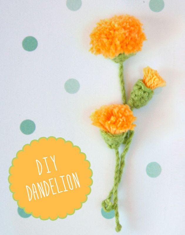 DIY dandelion by I am a Mess   Crafty   Croché, Flores, Diente de leon