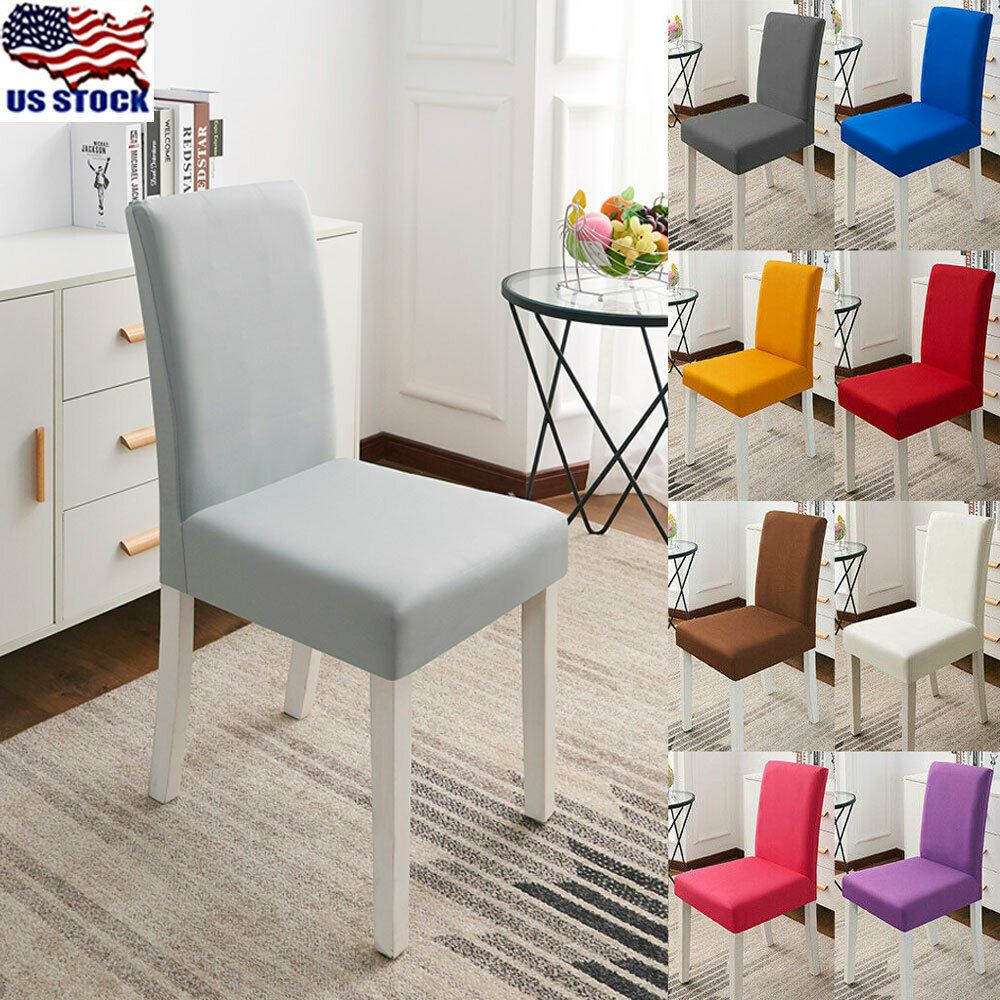 Dining Chair Covers Wedding Slipcovers Spandex Stretch Seat Covers