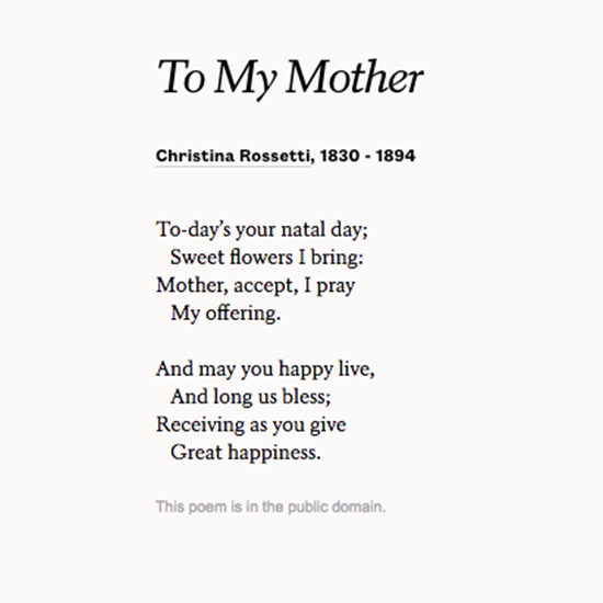 sonnet the first day poem by christina rossetti A beautiful christina rossetti love poem: i wish i could remember the first day, first hour, first moment of your meeting me if bright or dim the season, it might be.