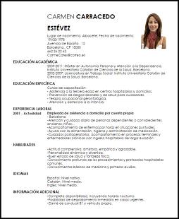 Resultado De Imagen Para Muestra De Cv En Espanol Baixar Modelo De Curriculo Exemplos De Curriculos Exemplos De Curriculum