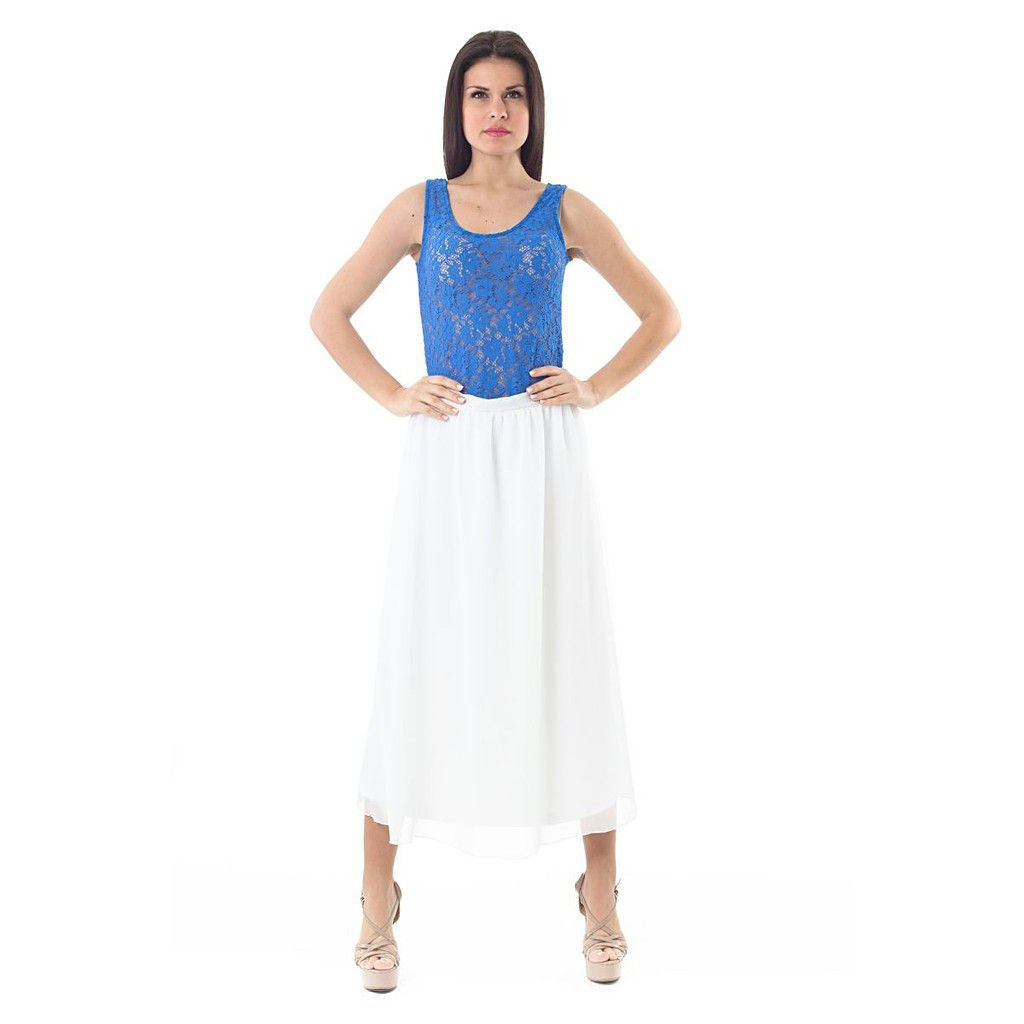 Sleeveless Stretch Lace Top