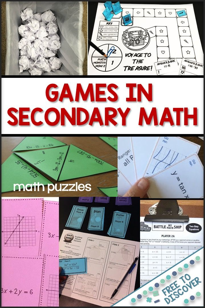 Games in the Secondary Math Classroom in 2020 Math games
