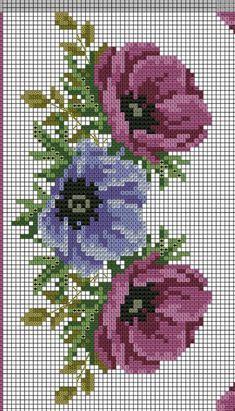 55 Gráficos de Flores em Ponto Cruz – Grátis para Baixar