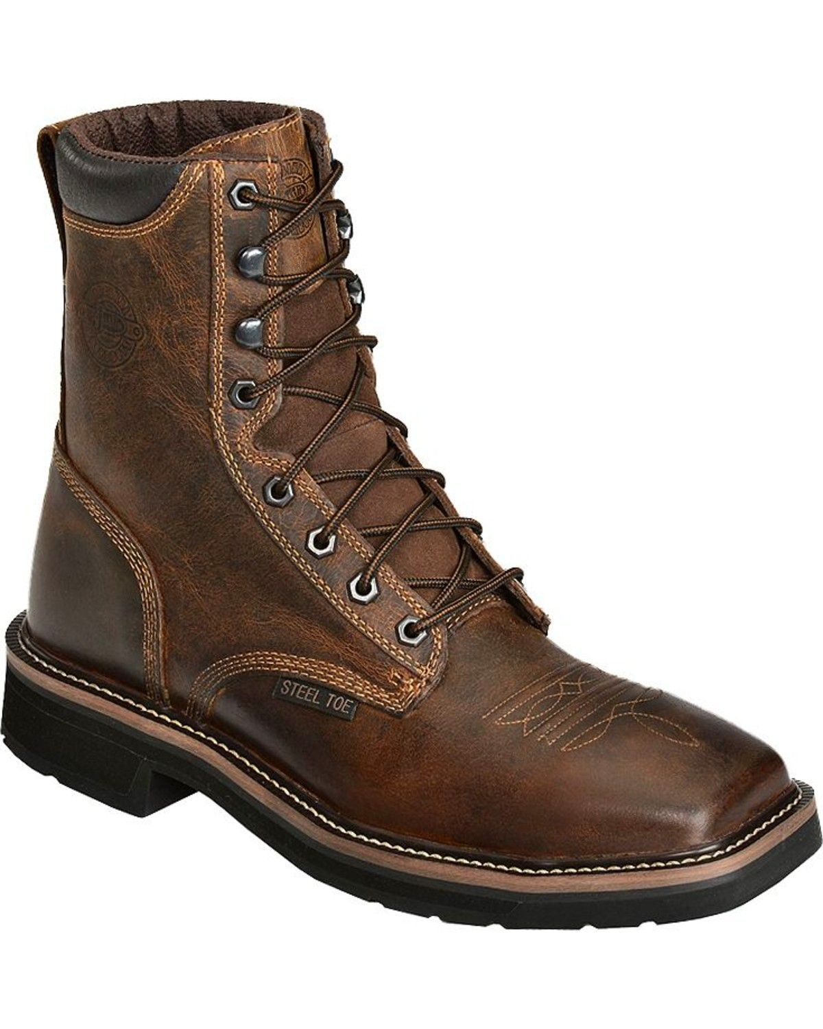 Square Toe Best Quality Youth Boys Cowboy Western Rodeo Genuine Leather Boots