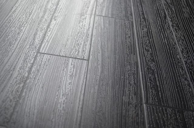 Black Vinyl Tile Wood Grain Commercial