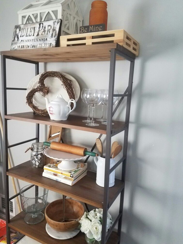 Farmhouse Dining Room Etagere
