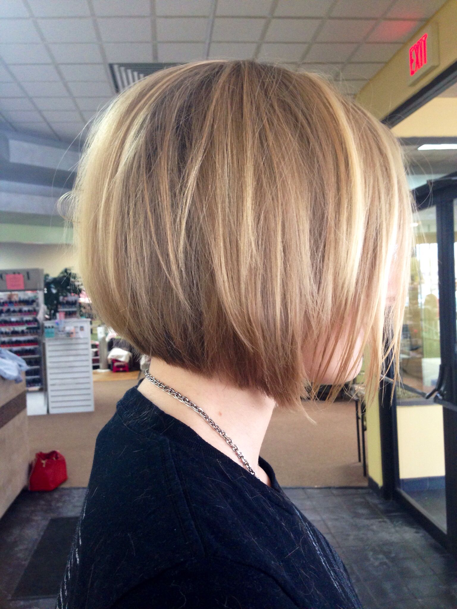 Blonde bob haircut inverted bob Pinterest