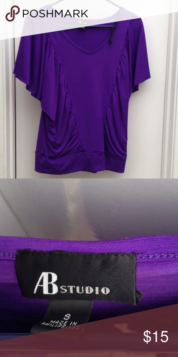 AB Studio Purple dress top Great for work or play. Great condition. Size small. Gathers at the waist. Great rich purple color. AB Studio Tops Tunics