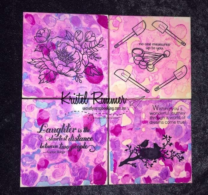 Tile Coasters (Stampin' Up!) - Secretly Scrapbooking (Bunbury, WA)
