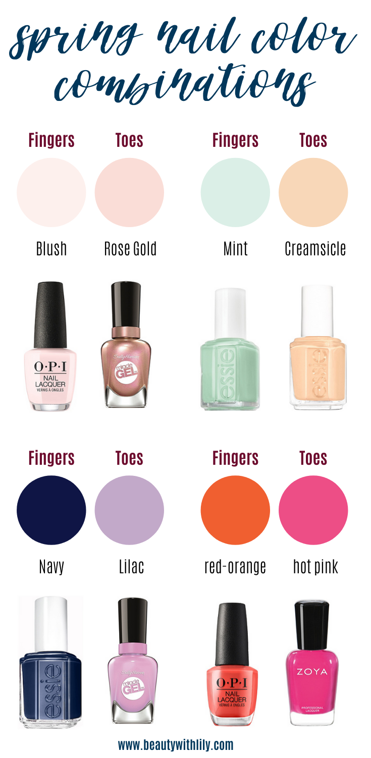 Https Www Beautywithlily Com Wp Content Uploads 2020 04 Spring Nail Color Combinations Png In 2020 Pretty Nail Colors Nail Color Combinations Spring Nail Colors
