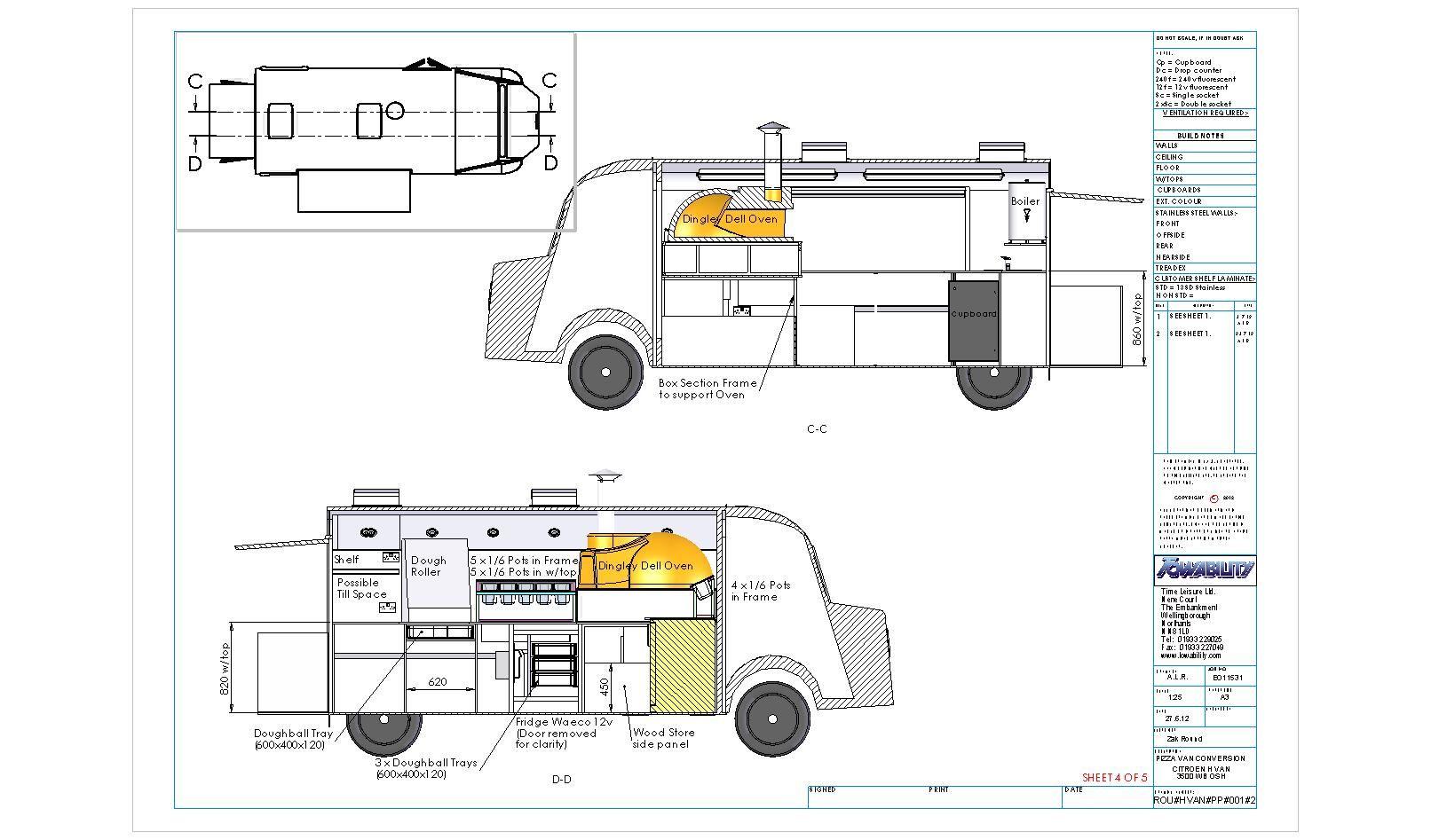 Van Plans — Pizza Wagon Mobile Pizza Melbourne Citroen