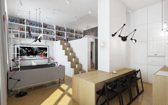 Planos 3D de departamento pequeño de forma cuadrada, no puedes dejar