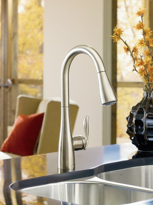 moen 7594srs spot resist stainless kitchen faucet this sleek rh pinterest com