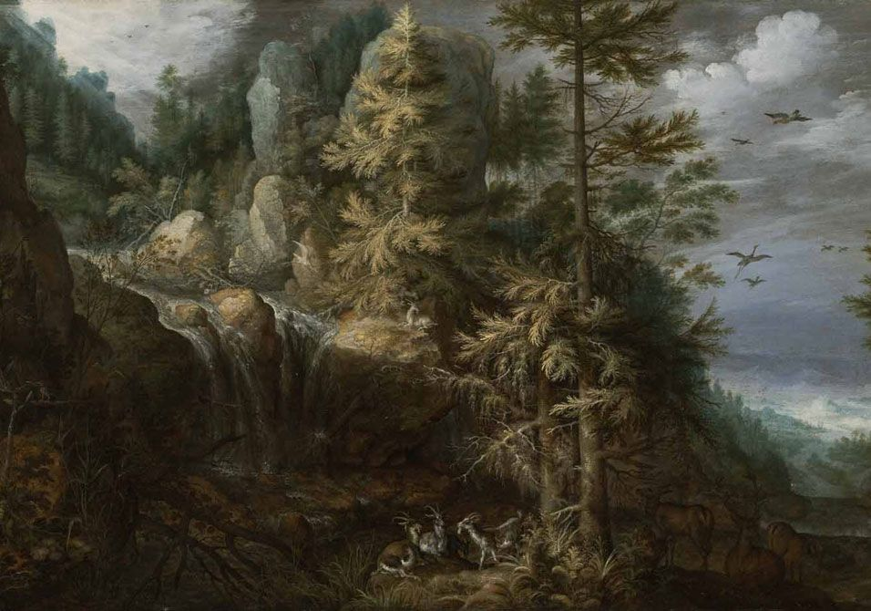 Landscape with the Temptation of Saint Anthony - Roelandt Savery