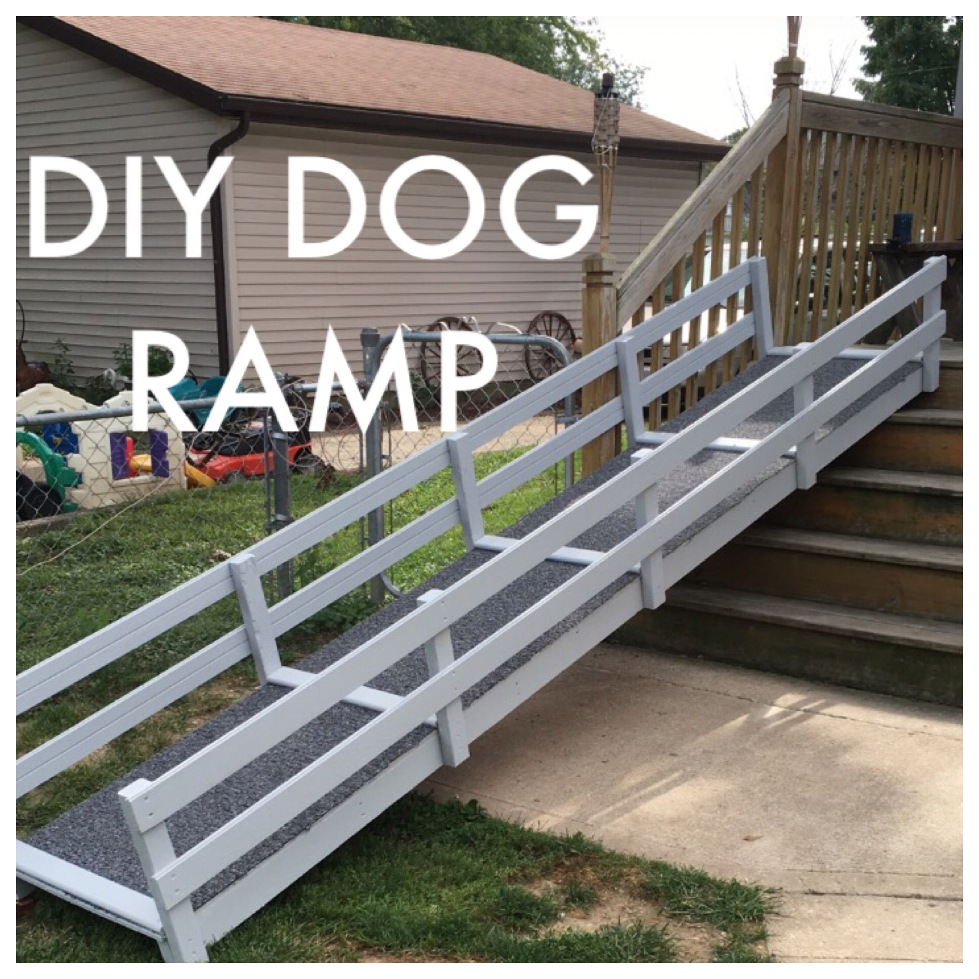 Diy Dog Ramp Over Stairs Dog Ramp Diy Dog Ramp Pinteres