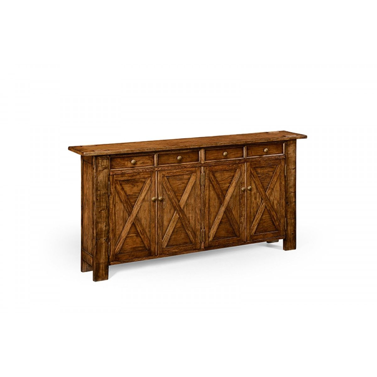 Jonathan Charles Country Living Style Walnut Sideboard Narrow Sideboard Country Sideboard Narrow Buffet Table