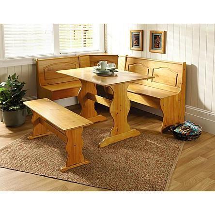 Essential Home Emily Breakfast Nook- Pine | House Decor | Pinterest