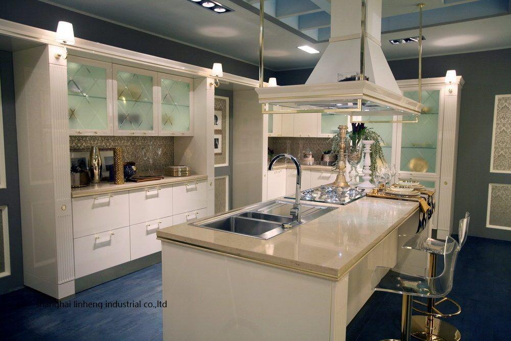 High Gloss Lacquer Kitchen Cabinet Mordern Lh La087 Stone Countertops Kitchen Kitchen Cabinets Cheap Kitchen Cabinets