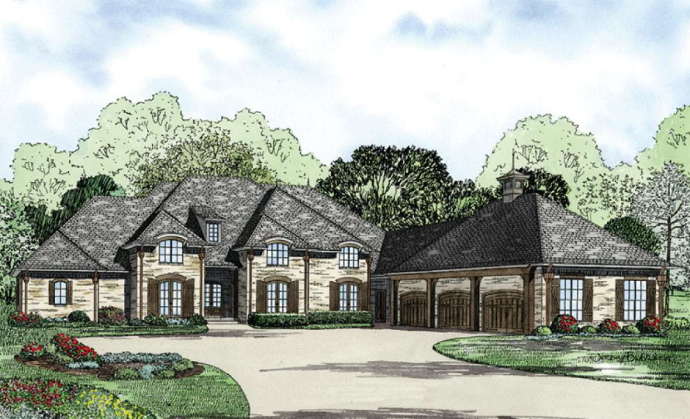 House Plan 110 00836 French Country Plan 4 810 Square Feet 4 Bedrooms 3 5 Bathrooms French Country House Plans Safe Room Luxury House Plans