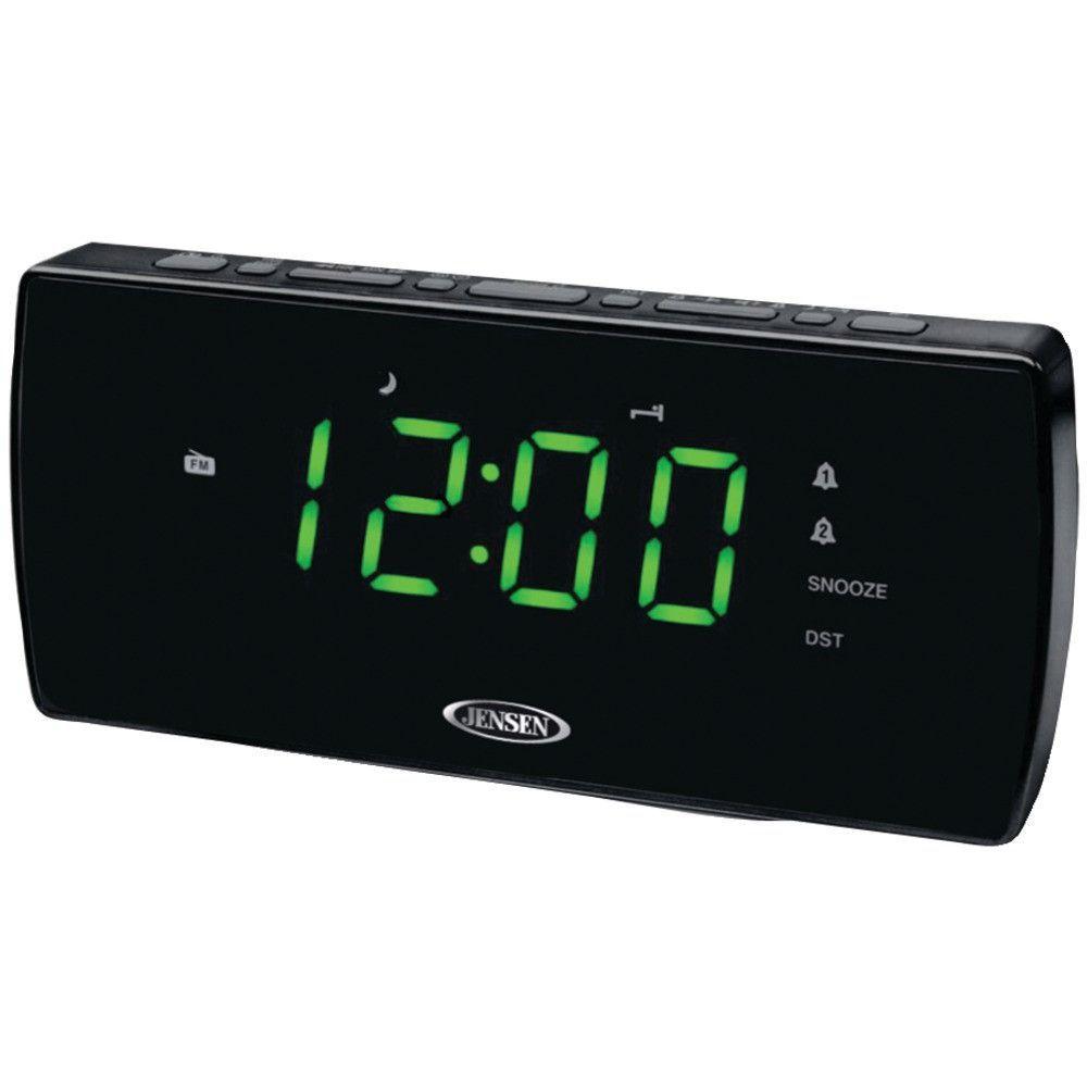 Jensen Am And Fm Dual Alarm Clock Radio Radio Alarm Clock Alarm Clock Digital Clock Radio