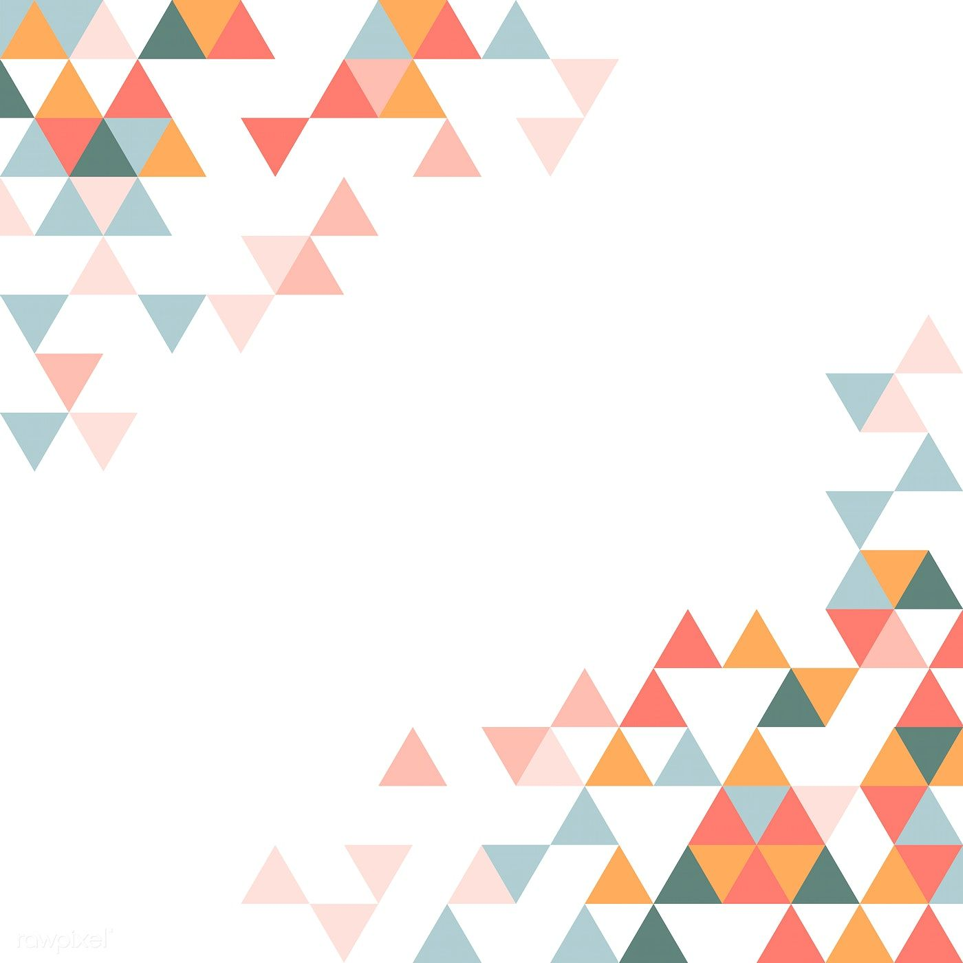 Colorful Triangle Patterned On White Background Free Image By Rawpixel Com Manotang Triangle Pattern Graphic Design Pattern Powerpoint Background Design