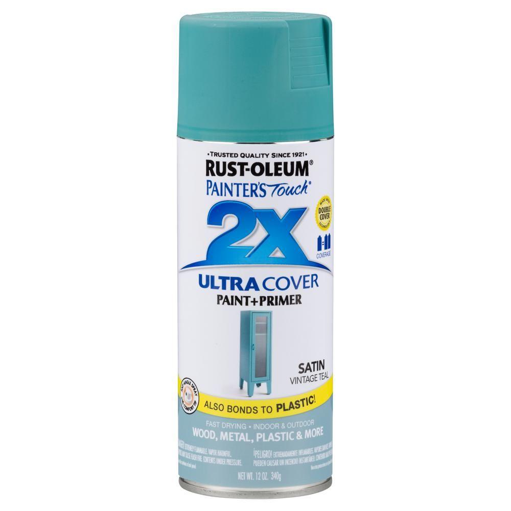 Rust Oleum Painter S Touch 2x 12 Oz Satin Vintage Teal General Purpose Spray Paint 6 Pack Primer Spray Paint Rustoleum Spray Paint