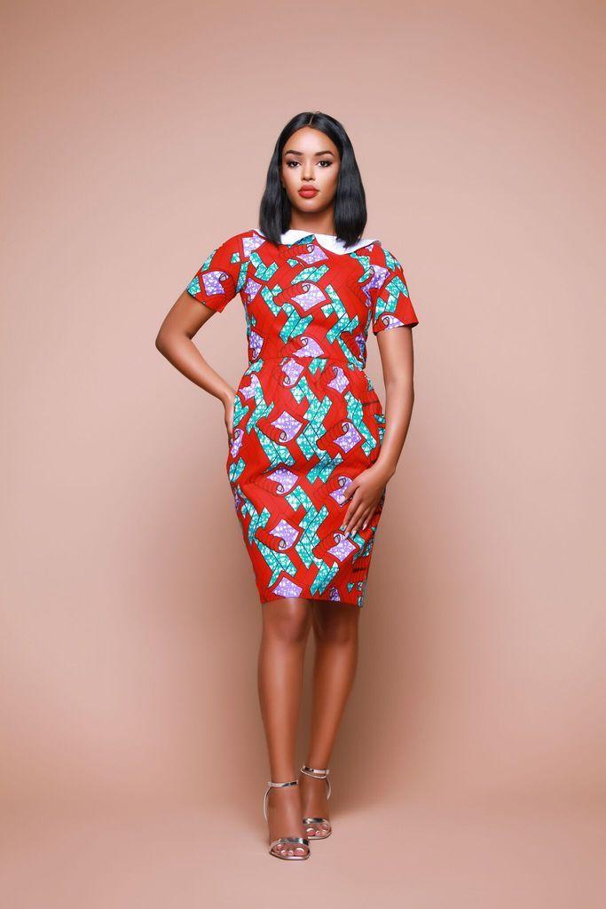 e9e77e3d8e African Print Wekesa Midi Dress