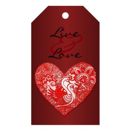 Swan lace live love heart gift tags negle Gallery