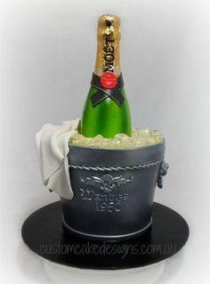 Moet Champagne In Bucket Cake By Custom Cake Designs