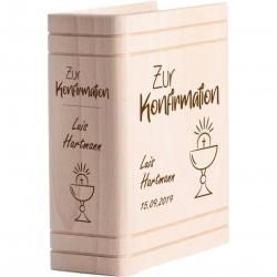 Photo of Personalized passbook with engraving for confirmation – chalice