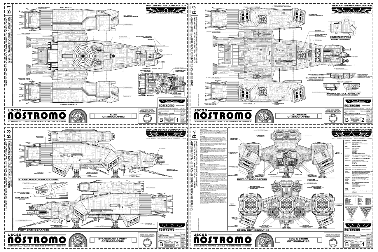 Uscss Nostromo Small Blueprint Version By Hydride Ion