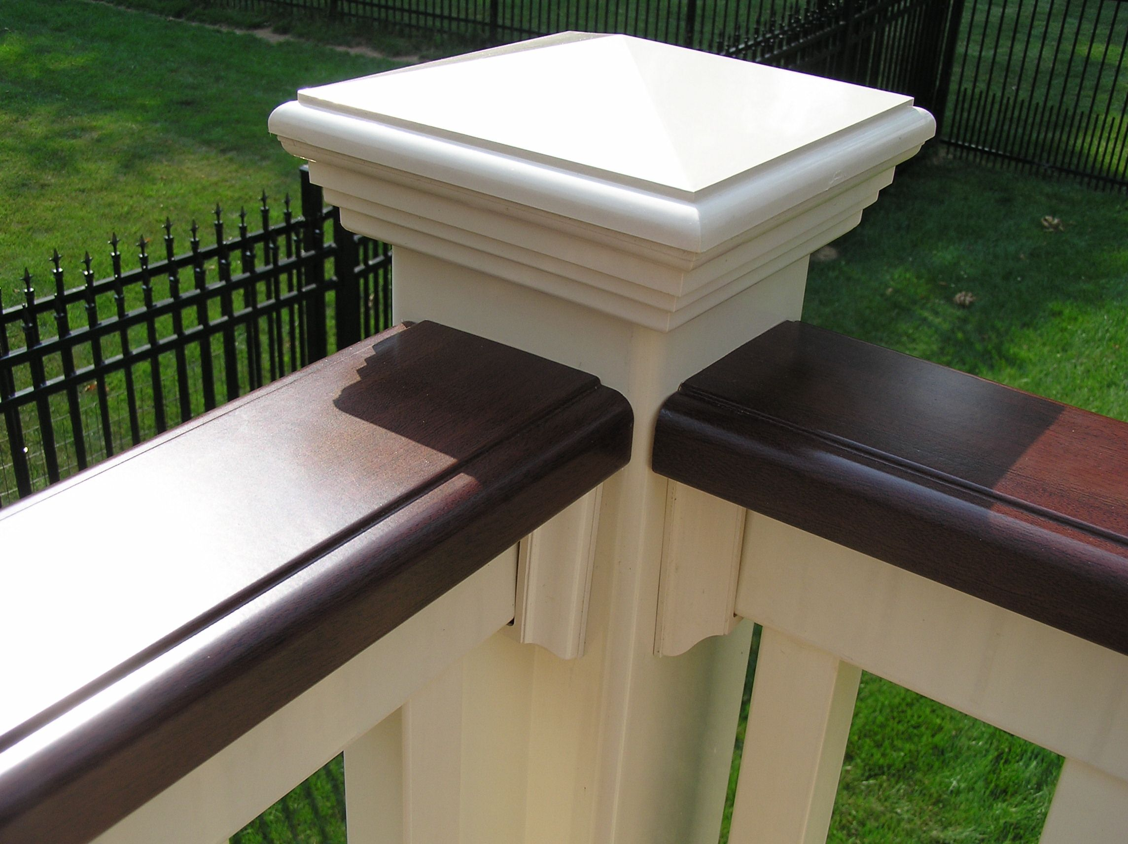 Best Deck Board Cap Rail With Images Victorian Porch 400 x 300