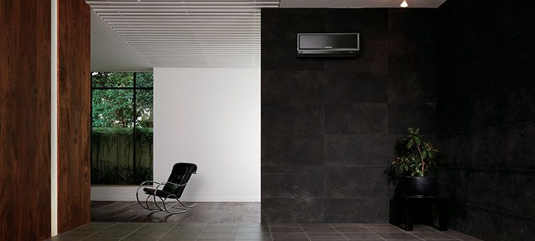 MSZEF wall mounted air conditioning in black httpwww
