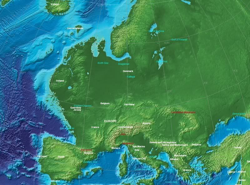 Europe At About The End Of The Ice Age Geography Ice Age