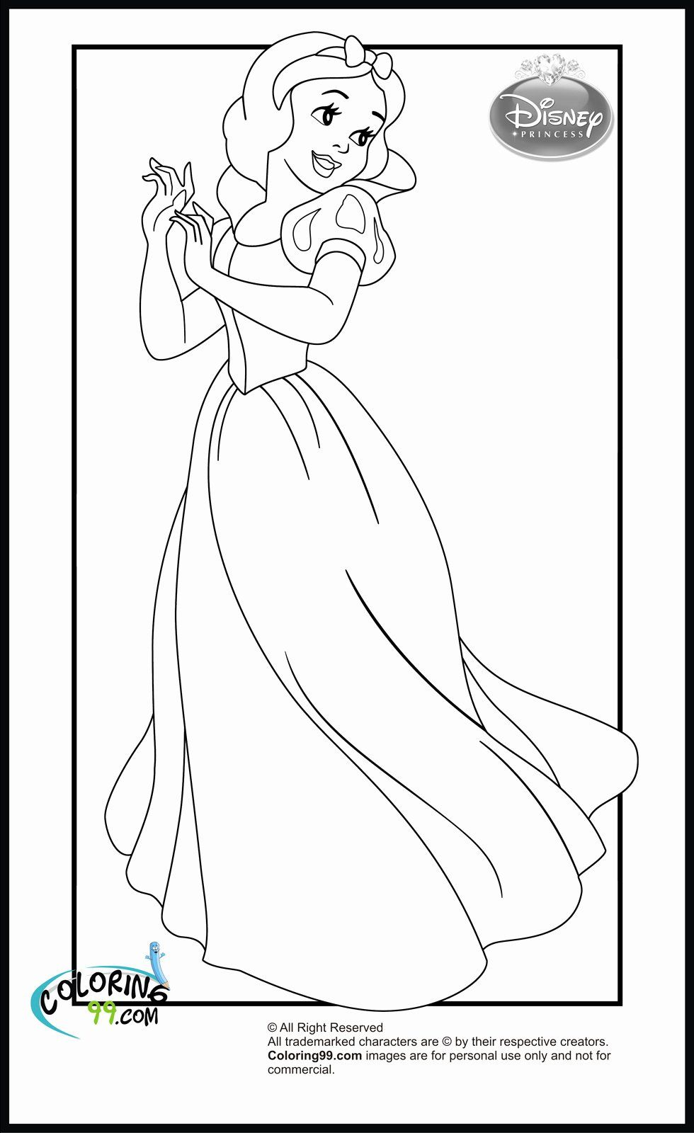 Snow White Coloring Pictures Lovely Disney Coloring Pages