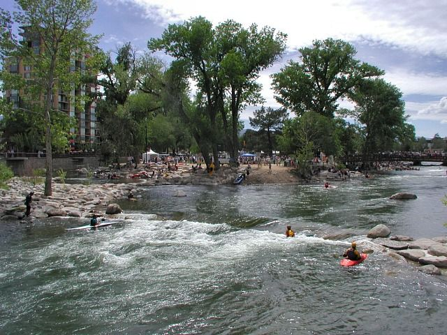 play: truckee river swim + kayak :: a kayak park smack dab in the middle of downtown