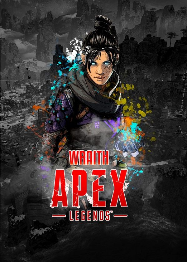 "Apex Legends Splatter Characters Wraith #Displate explore Pinterest""> #Displate artwork by artist ""Aohiro Art"".… 