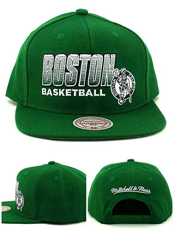 22daf801f7664 Mitchell   Ness Boston Celtics New Retro Score Keeper Black Era Snapback  Hat Cap