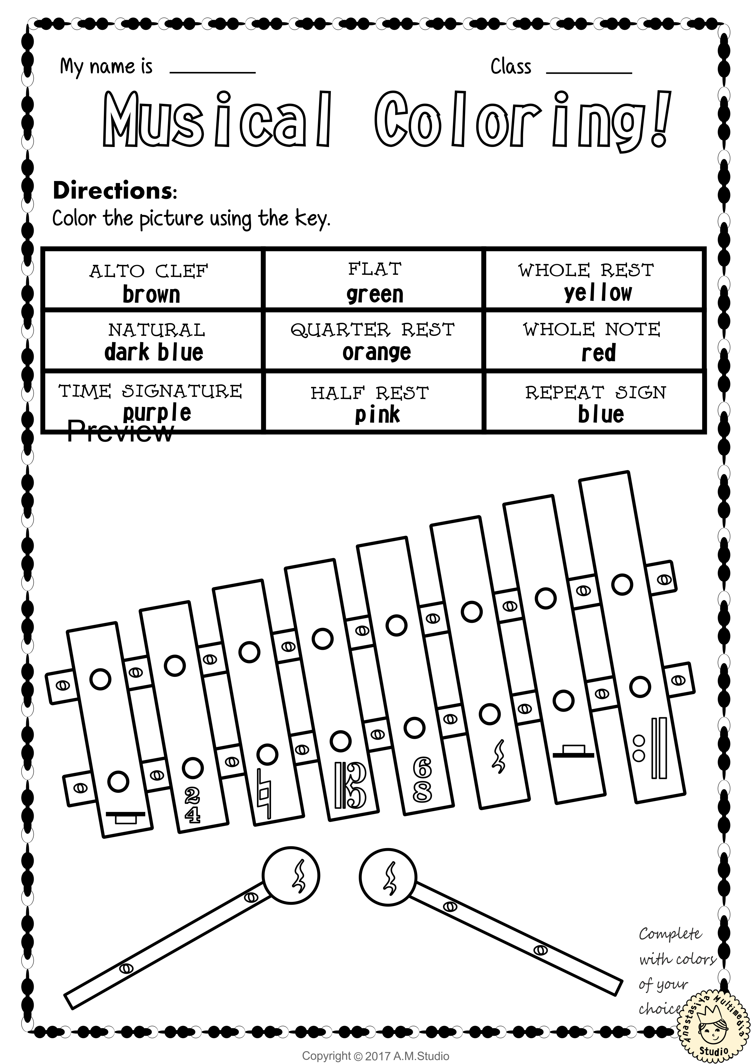 Let`s Learn the Music Symbols {No Prep Printables Bundle} | Music ...