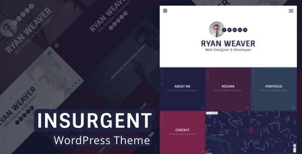 Personal Vcard Resume Portfolio WordPress Theme - wordpress resume themes