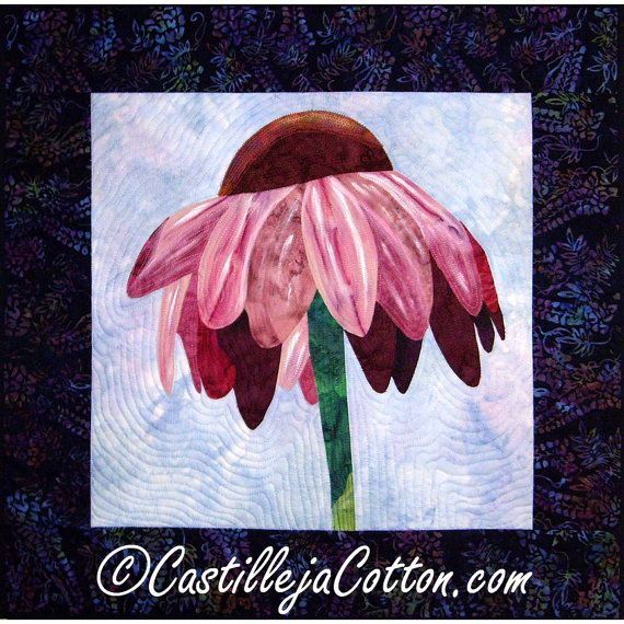 Flower Quilted Wall Hanging  Solitary Cone by castillejacotton, $175.00