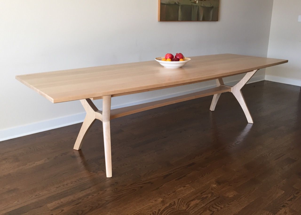 Contemporary dining table bases  Modern dining table by Schick Furniture This modern trestle table
