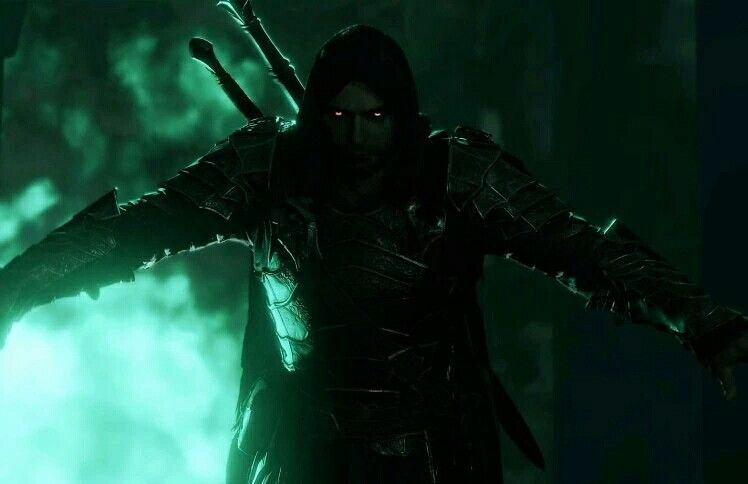Talion Is Now A Ring Wraith And He Really Looks The Part Also He S Out For His Revenge On The Witch Kin Dark Fantasy Art Shadow Of Mordor Fantasy Concept Art