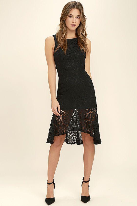 You Next To Vestiti Midi Black Lace DressAbbigliamento rdeBCxo