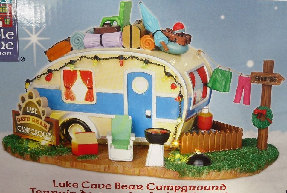 Lemax Christmas Village Lake Cave Bear
