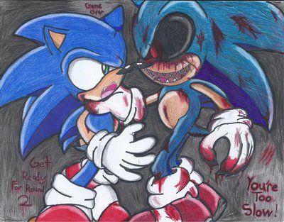 Sonic vs  Sonic EXE by Shadrico200 | Sonic & Friends | Sonic art